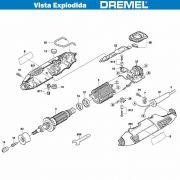 VISTA EXPLODIDA PEÇAS P/ DREMEL MICRO RETIFICA 4000 - F013400050 - 110V