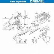 VISTA EXPLODIDA PEÇAS P/ DREMEL MOTO SAW MS20 - F013MS2002 - 110V
