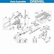 VISTA EXPLODIDA PEÇAS P/ DREMEL MOTO SAW MS20 - F013MS2050 - 220V