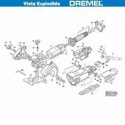 VISTA EXPLODIDA PEÇAS P/ DREMEL SAW MAX SM20 - F013SM2002 - 110V