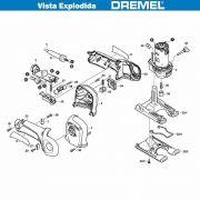 VISTA EXPLODIDA PEÇAS P/ DREMEL TRIO 6800 - F013680002 - 110V