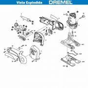 VISTA EXPLODIDA PEÇAS P/ DREMEL TRIO 6800 - F013680050 - 220V