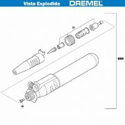 VISTA EXPLODIDA PEÇAS P/ DREMEL VERSA TIPE 2000 - F013200000 -