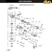VISTA EXPLODIDA PEÇAS P/ ESMERILHADEIRA DWT WS08115 - 110V 220V