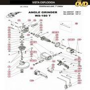 VISTA EXPLODIDA PEÇAS P/ ESMERILHADEIRA DWT WS180T - 110V 220V