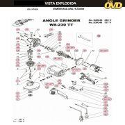 VISTA EXPLODIDA PEÇAS P/ ESMERILHADEIRA DWT WS230TT - 110V 220V