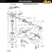 VISTA EXPLODIDA PEÇAS P/ ESMERILHADEIRA DWT WS24180T - 110V 220V