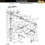 VISTA EXPLODIDA PEÇAS P/ ESMERILHADEIRA DWT WS24230T - 110V 220V