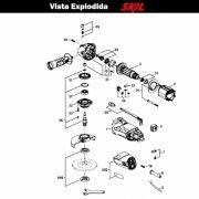 VISTA EXPLODIDA PEÇAS P/ ESMERILHADEIRA SKIL 9004 - F012900401 - 127 V