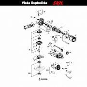 VISTA EXPLODIDA PEÇAS P/ ESMERILHADEIRA SKIL 9004 - F012900402 - 220 V