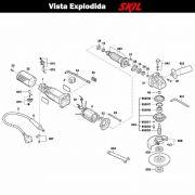 VISTA EXPLODIDA PEÇAS P/ ESMERILHADEIRA SKIL 9006 - F012900602 - 220 V