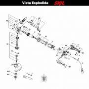 VISTA EXPLODIDA PEÇAS P/ ESMERILHADEIRA SKIL 9345 - F012934501 - 127 V