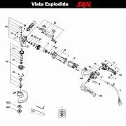 VISTA EXPLODIDA PEÇAS P/ ESMERILHADEIRA SKIL 9345 - F012934502 - 220 V