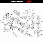 VISTA EXPLODIDA PEÇAS P/ ESMERILHADEIRA SKIL 9455 - F012945501 - 127 V