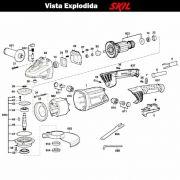 VISTA EXPLODIDA PEÇAS P/ ESMERILHADEIRA SKIL 9781 - F012978101 - 127 V
