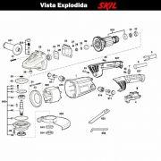 VISTA EXPLODIDA PEÇAS P/ ESMERILHADEIRA SKIL 9781 - F012978102 - 220 V