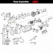 VISTA EXPLODIDA PEÇAS P/ ESMERILHADEIRA SKIL 9981 - F012998101 - 127 V