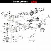 VISTA EXPLODIDA PEÇAS P/ ESMERILHADEIRA SKIL 9981 - F012998102 - 230 V