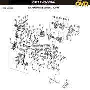 VISTA EXPLODIDA PEÇAS P/ LIXADEIRA DE CINTA AWT LC1300 - 110V 220V