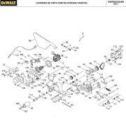 VISTA EXPLODIDA PEÇAS P/ LIXADEIRA DE CINTA DEWALT DWP352VS BR TIPO 1 - 110V