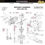 VISTA EXPLODIDA PEÇAS P/ LIXADEIRA ROTO ORBITAL DWT EX125VS - 110V 220V