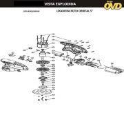 VISTA EXPLODIDA PEÇAS P/ LIXADEIRA ROTO ORBITAL DWT LRD430 - 110V 220V