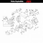 VISTA EXPLODIDA PEÇAS P/ LIXADEIRA SKIL 3375 - F012337501 - 127 V