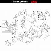 VISTA EXPLODIDA PEÇAS P/ LIXADEIRA SKIL 3375 - F012337502 - 220 V