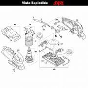 VISTA EXPLODIDA PEÇAS P/ LIXADEIRA SKIL 7351 - F012735101 - 127 V