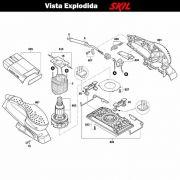 VISTA EXPLODIDA PEÇAS P/ LIXADEIRA SKIL 7351 - F012735102 - 220 V
