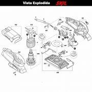 VISTA EXPLODIDA PEÇAS P/ LIXADEIRA SKIL 7366 - F012736602 - 220 V