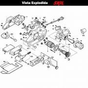 VISTA EXPLODIDA PEÇAS P/ LIXADEIRA SKIL 7640 - F012764002 - 127 V
