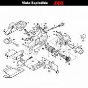 VISTA EXPLODIDA PEÇAS P/ LIXADEIRA SKIL 7640 - F012764045 - 230 V