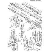 VISTA EXPLODIDA PEÇAS P/ MARTELETE MAKITA HR4000C 110V 220V