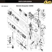 VISTA EXPLODIDA PEÇAS P/ MARTELO MARTELETE AWT H1125 - 110V 220V