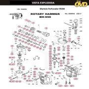 VISTA EXPLODIDA PEÇAS P/ MARTELO MARTELETE DWT BH950BMC - 110V 220V