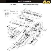 VISTA EXPLODIDA PEÇAS P/ MARTELO MARTELETE DWT H3275 - 110V 220V