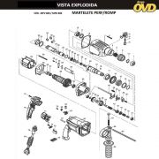 VISTA EXPLODIDA PEÇAS P/ MARTELO MARTELETE DWT MPD800 - 110V 220V