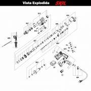 VISTA EXPLODIDA PEÇAS P/ MARTELO MARTELETE SKIL 1559 - F012155901 - 127 V