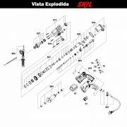 VISTA EXPLODIDA PEÇAS P/ MARTELO MARTELETE SKIL 1559 - F012155902 - 220 V