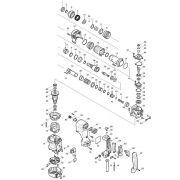 VISTA EXPLODIDA PEÇAS P/ MARTELO ROMPEDOR MAKITA HK1820 110V 220V
