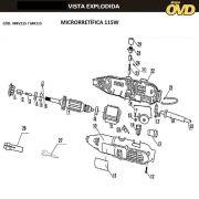 VISTA EXPLODIDA PEÇAS P/ MICRO RETIFICA AWT MR115 - 110V 220V
