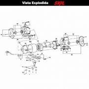 VISTA EXPLODIDA PEÇAS P/ MOTO ESMERIL SKIL 3000 - F012300001 - 127 V