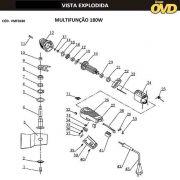 VISTA EXPLODIDA PEÇAS P/ MULTIFUNÇÃO AWT MF180 - 110V 220V