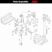 VISTA EXPLODIDA PEÇAS P/ PARAFUSADEIRA FURADEIRA À BATERIA SKIL 3320 - F012332002 - 220 V