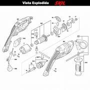 VISTA EXPLODIDA PEÇAS P/ PARAFUSADEIRA FURADEIRA À BATERIA SKIL 6055 - F012605501 - 127 V
