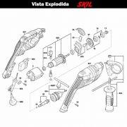 VISTA EXPLODIDA PEÇAS P/ PARAFUSADEIRA FURADEIRA À BATERIA SKIL 6055 - F012605502 - 220 V
