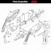 VISTA EXPLODIDA PEÇAS P/ PARAFUSADEIRA FURADEIRA À BATERIA SKIL 6060 - F012606001 - 127 V