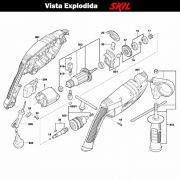 VISTA EXPLODIDA PEÇAS P/ FURADEIRA SKIL 6060 - F012606002 - 220 V
