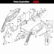 VISTA EXPLODIDA PEÇAS P/ PARAFUSADEIRA FURADEIRA À BATERIA SKIL 6062 - F012606201 - 127 V